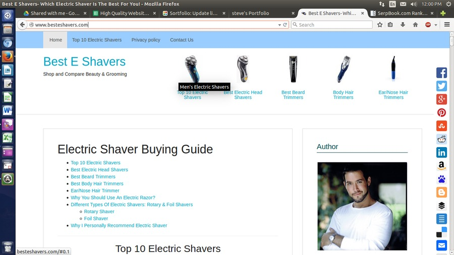 A great web design by Best E Shavers, Millersburg, OH: Website, E-Commerce , Technology , Design Only