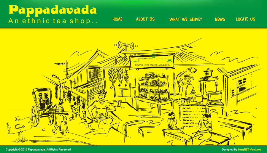 A great web design by ImagiNET Ventures Pvt Limited, Trivandrum, India: Website, Other, Restaurants & Bars, Static HTML