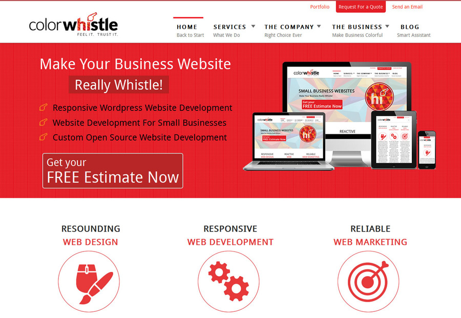 A great web design by ColorWhistle, Coimbatore, India: Responsive Website, Marketing Website , Technology , Wordpress