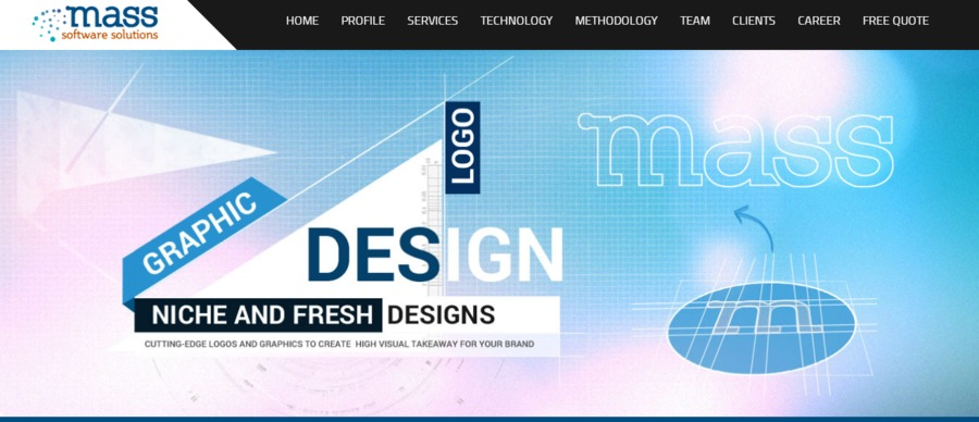 A great web design by Mass Software Solution, Kolkata, India: