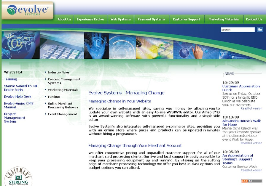 A great web design by Evolve Systems, Minneapolis, MN:
