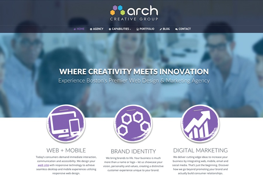 A great web design by Arch Creative Group, Boston, MA: