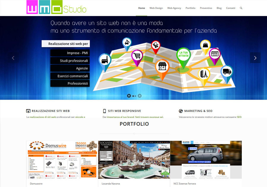 A great web design by WMDStudio.com, Bergamo, Italy: