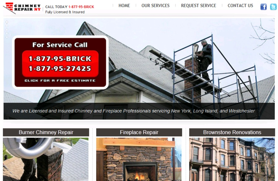 A great web design by Chimney Repair NY, New York, NY: