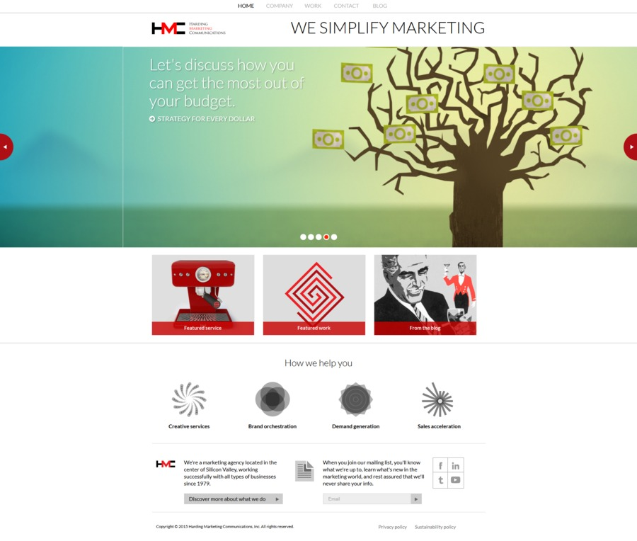 A great web design by Harding Marketing Communications, San Jose, CA: