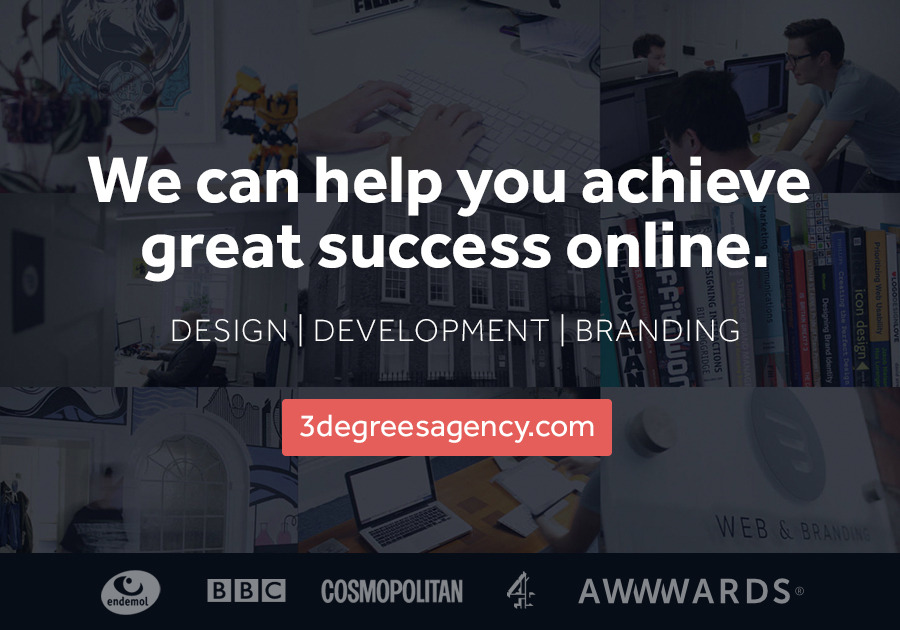 A great web design by 3Degrees Agency, Portsmouth, United Kingdom: