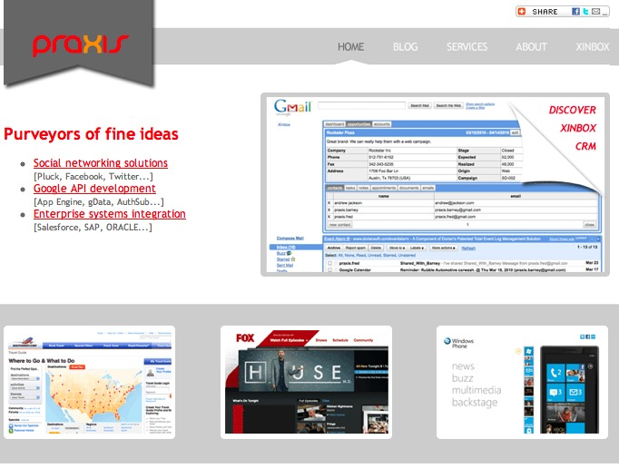 A great web design by Praxis Information Science, Austin, TX: