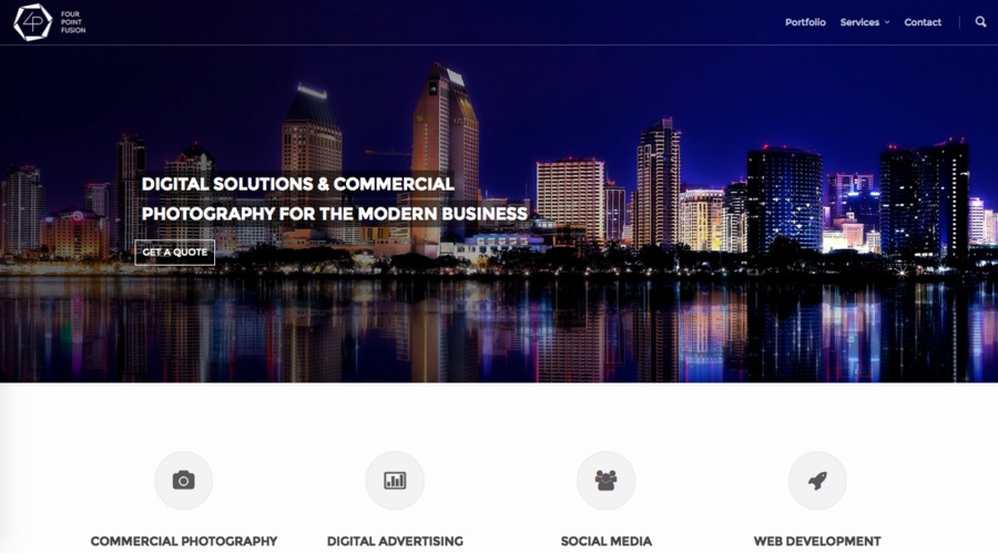 A great web design by Four Point Fusion, San Diego, CA: Responsive Website, Portfolio , Wordpress
