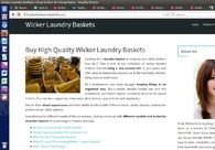 A great web design by Buy Wicker Laundry Basket, California, CA: