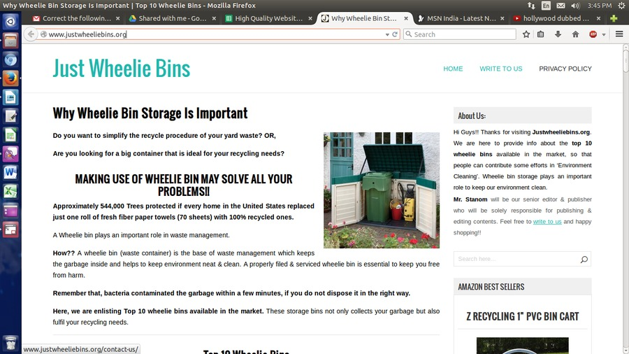 A great web design by Just Wheelie Bins, Fort Wayne, PA: