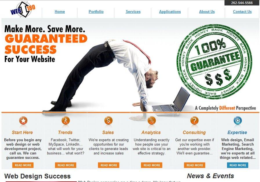 A great web design by Web 180 LLC., Chicago, IL: