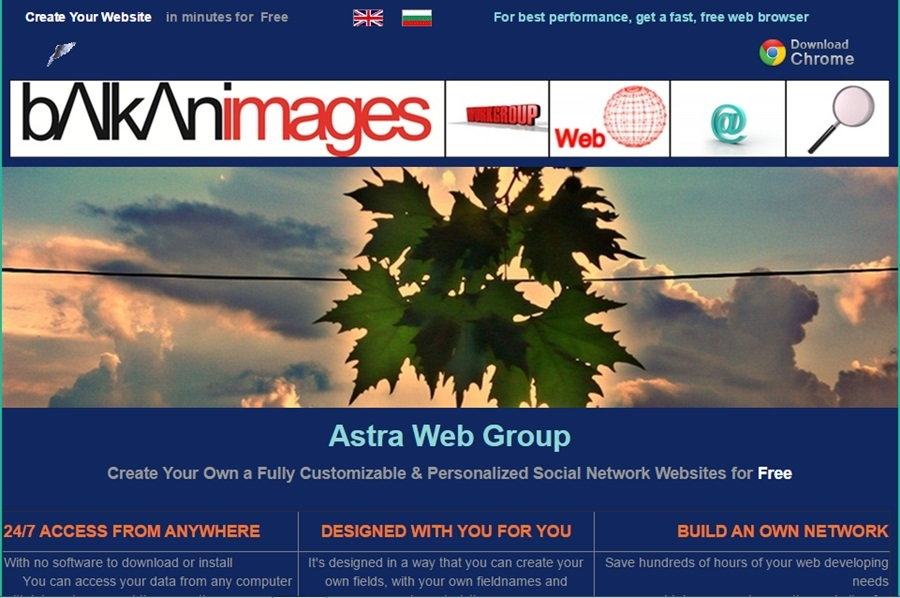 A great web design by Astragroup, Sofia, Bulgaria: