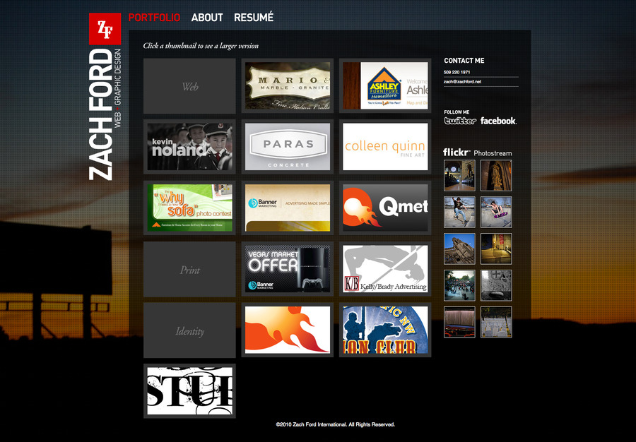 A great web design by Zach Ford, Minneapolis, MN: