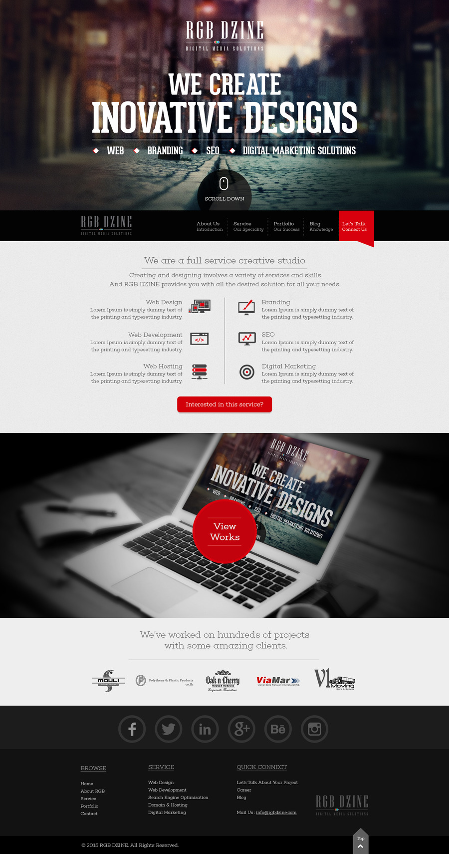 A great web design by RGB DZINE, Bangalore, India: Responsive Website, Marketing Website , Service , Static HTML