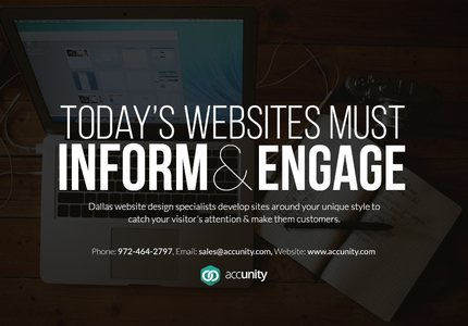 A great web design by Accunity, LLC, Dallas, TX: Website