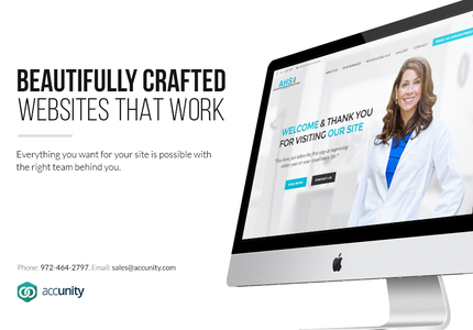 A great web design by Accunity, LLC, Dallas, TX: