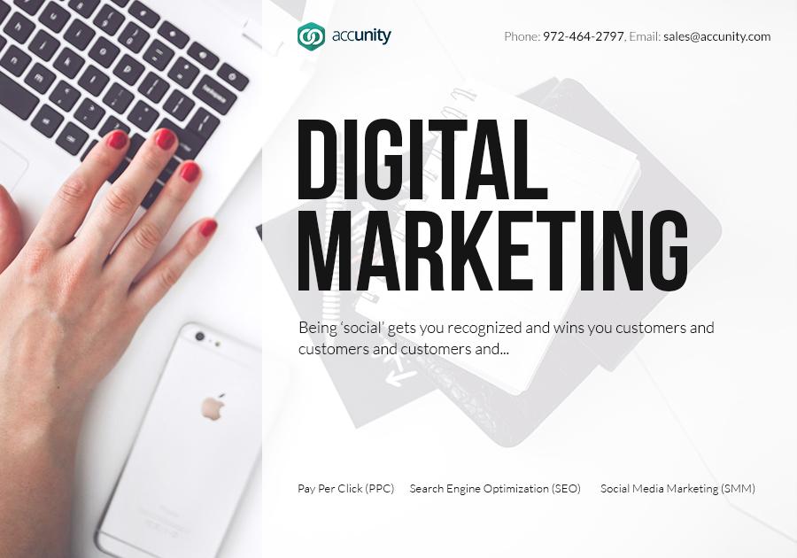 A great web design by Accunity, LLC, Dallas, TX: