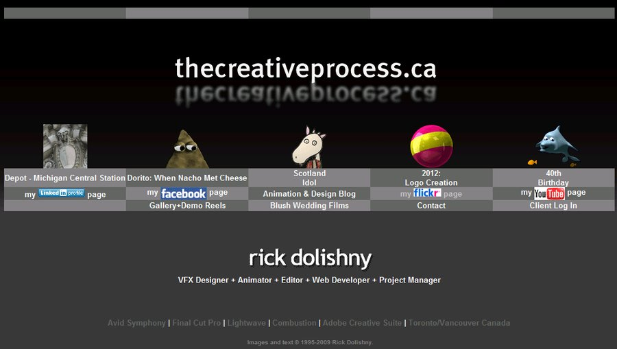 A great web design by Rick Dolishny, Toronto, Canada: