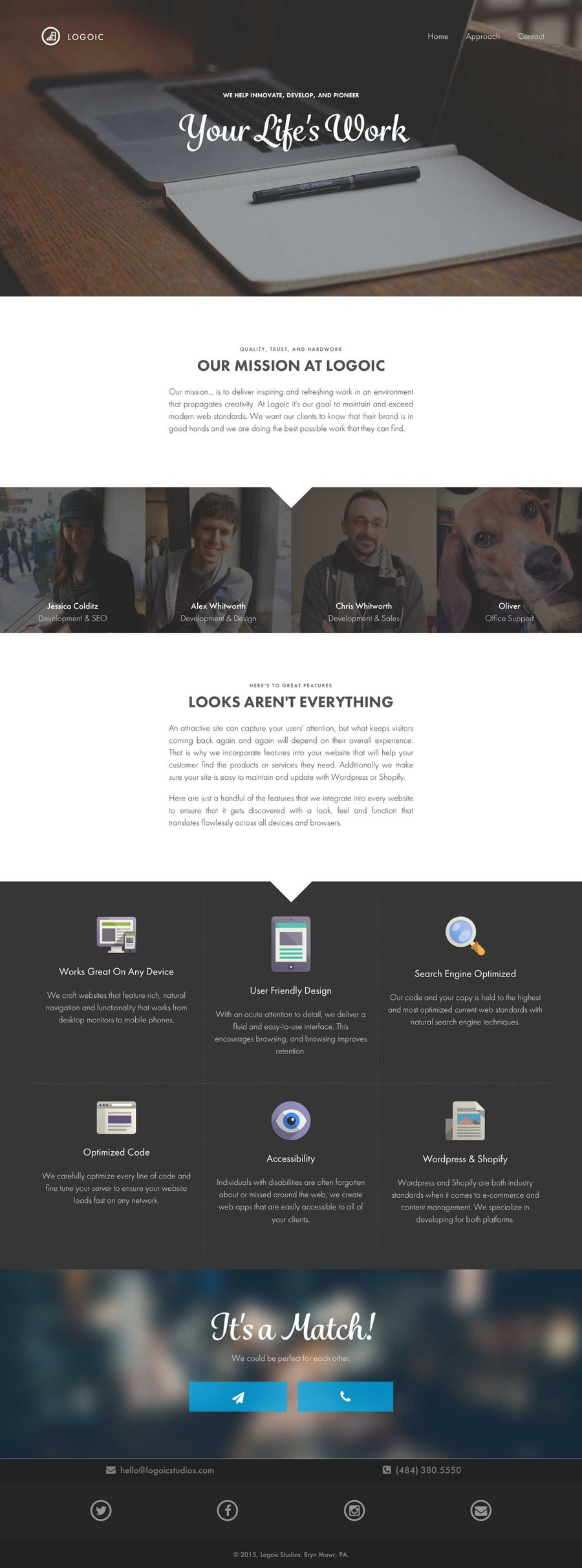 A great web design by Logoic Studios, Philadelphia, PA: