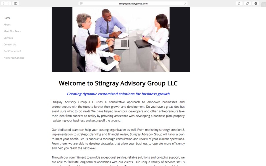 A great web design by Stingray Advisory Group LLC, Grand Rapids, MI: Responsive Website, Other, Consulting , Other