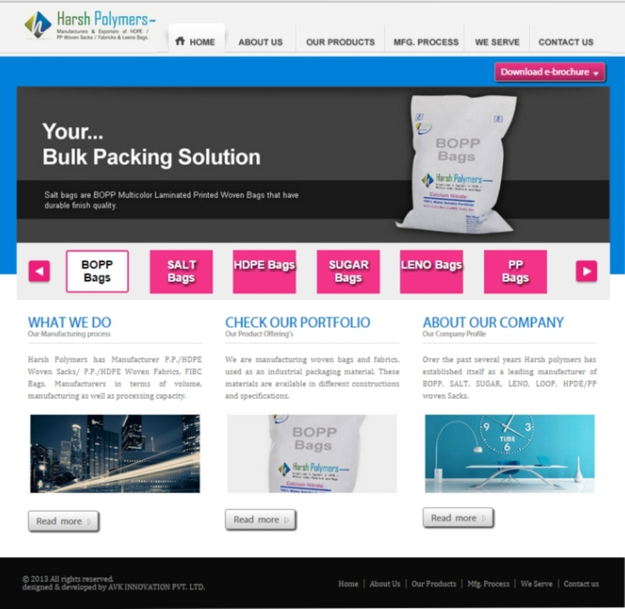 A great web design by AVKInnovation, Mumbai, India: Website, Other, Manufacturing , PHP