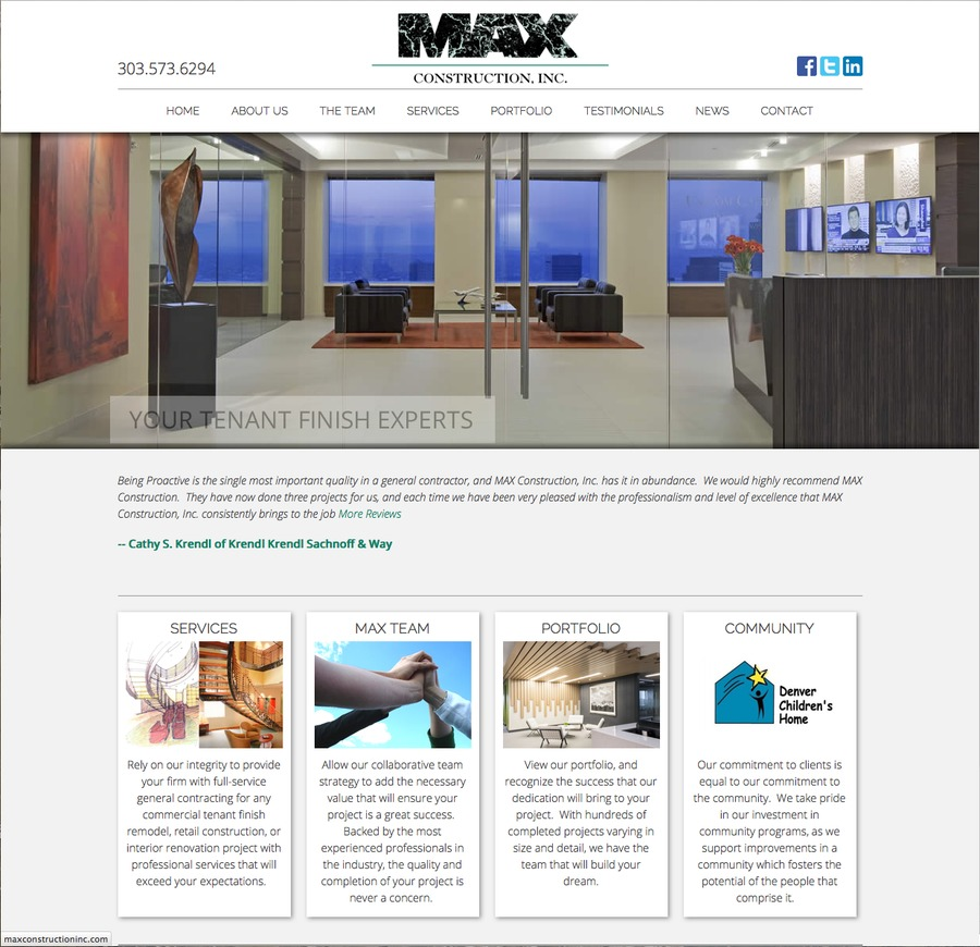 A great web design by SiteWired Web Solutions, Inc., Denver, CO: