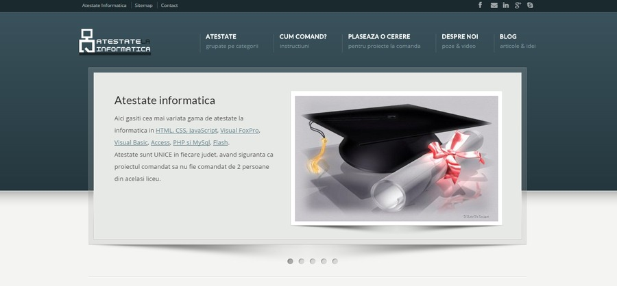 A great web design by Atestate Informatica , Bucharest, Romania: