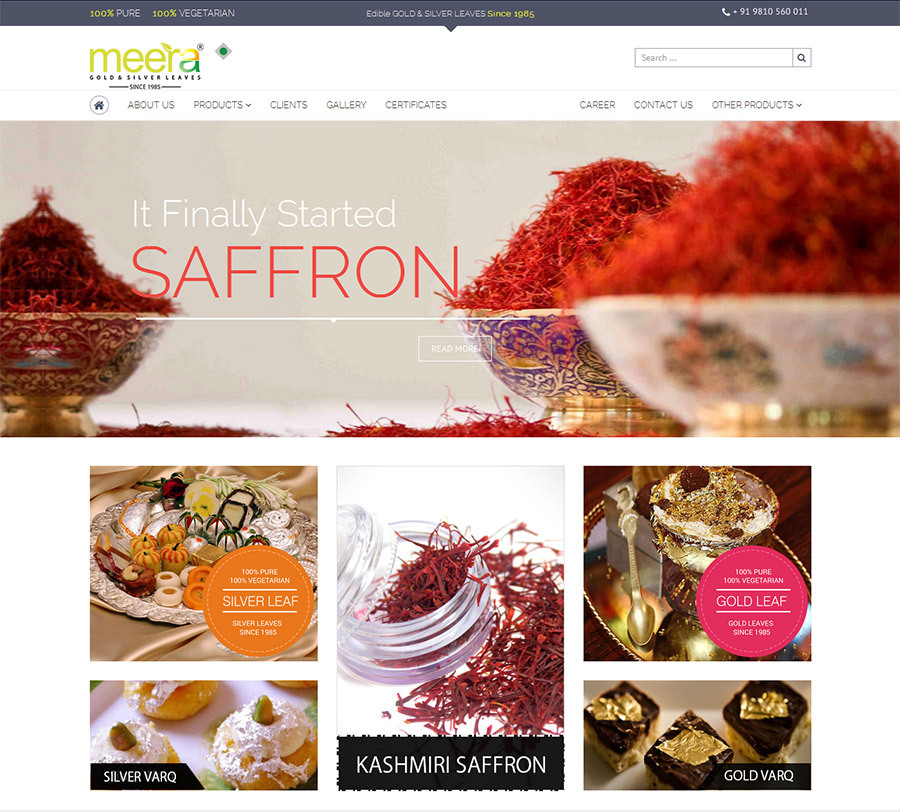 A great web design by Pepper Designs Pvt Ltd, Faridabad, India: