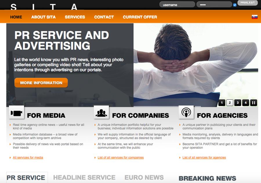 A great web design by CreaTea - DIGITAL Agency, Bratislava, Slovakia: