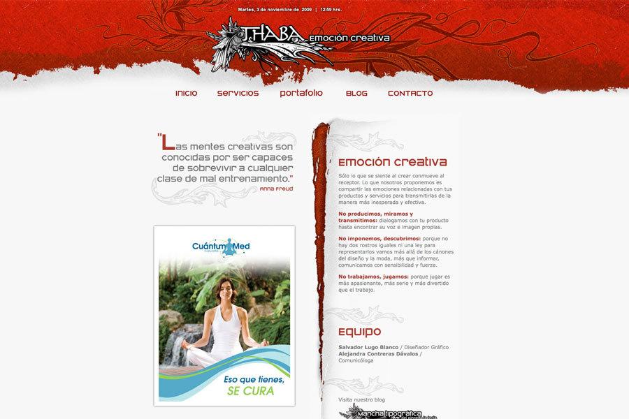A great web design by THABA | Emoción creativa, Mexico City, Mexico: