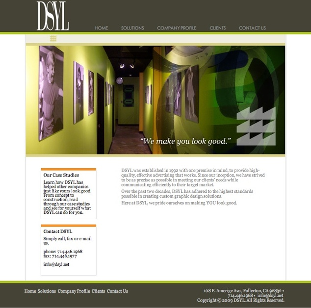 A great web design by DSYL, Los Angeles, CA: