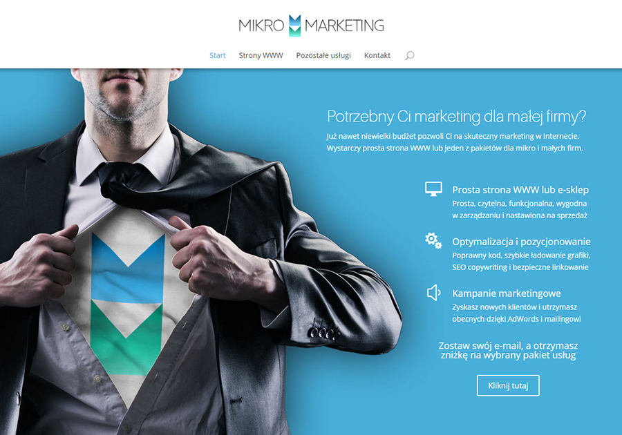 A great web design by Mikro Marketing, Szczecin, Poland: