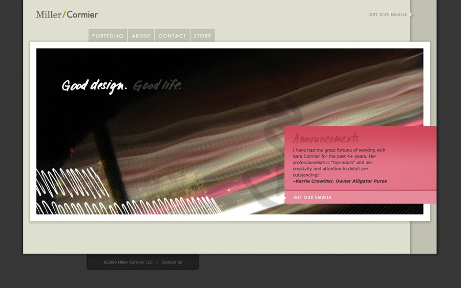 A great web design by Miller/Cormier, Cincinnati, OH: