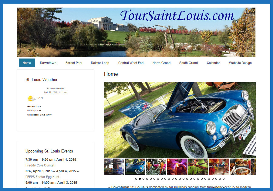 A great web design by Mark Zeman, MA, St Louis, MO:
