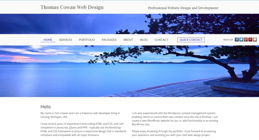 A great web design by Tom Cowan Web Design, Lansing, MI: