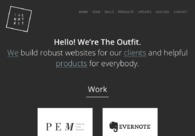 A great web design by The Outfit, Boston, MA: