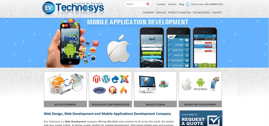 A great web design by Dev Technosys Pvt. Ltd., Jaipur, India: Website, Web Application , Software , PHP