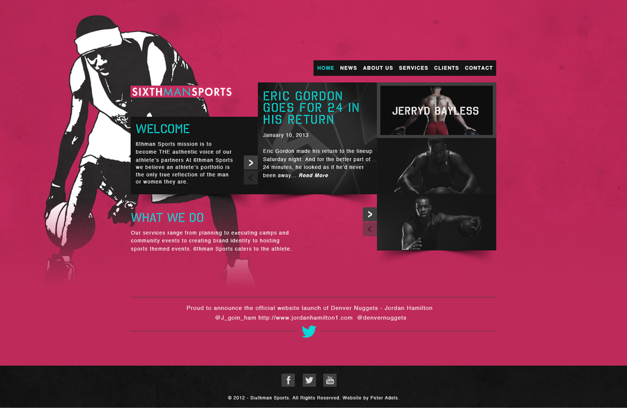 A great web design by MachinaTek, Portland, OR: Responsive Website, Sports & Fitness
