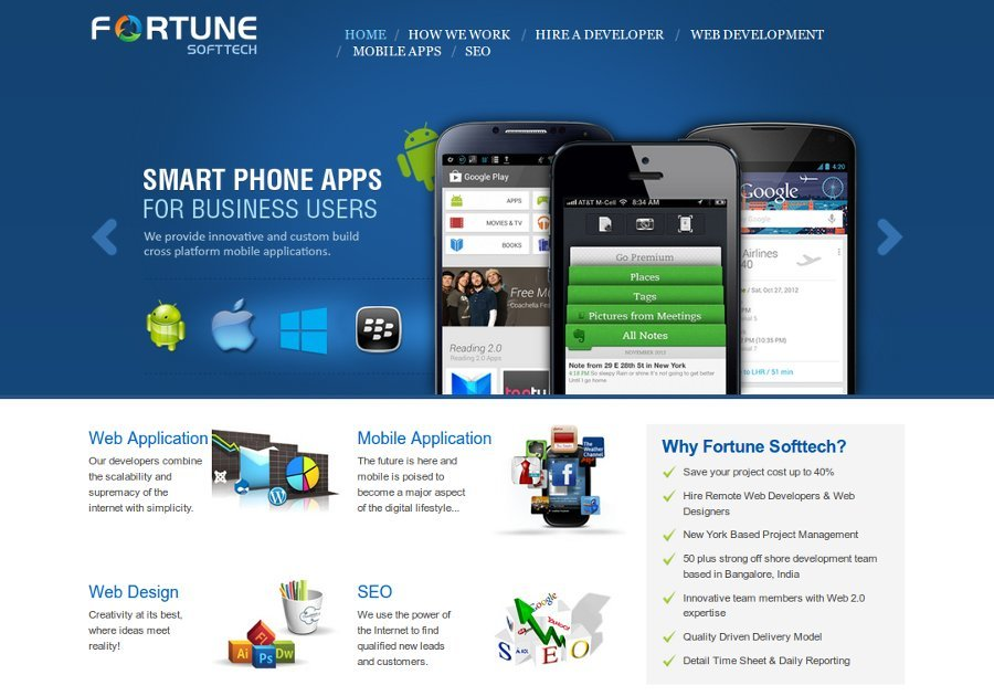 A great web design by Atlanta Fortune Softtech, Atlanta, GA: