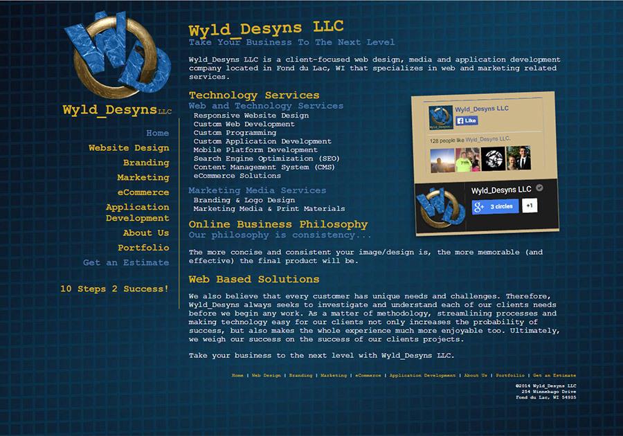 A great web design by Wyld_Desyns, LLC, Fond du Lac, WI: