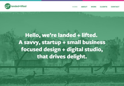 A great web design by Landed + Lifted, San Francisco, CA: Responsive Website, Marketing Website , Marketing , Other