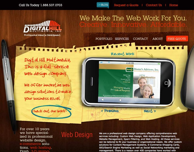 A great web design by Digital Hill Multimedia, Inc., Fort Wayne, IN:
