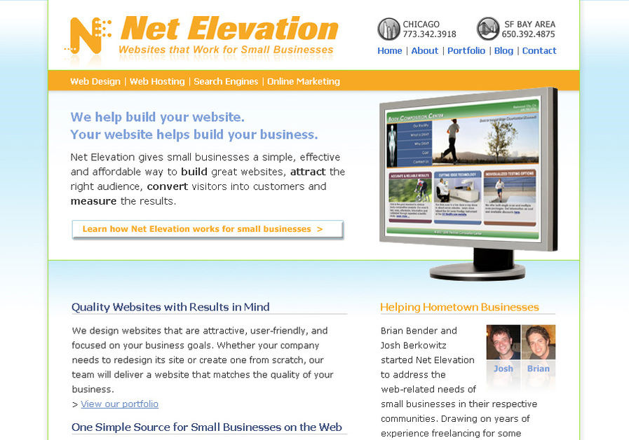 A great web design by Net Elevation, Chicago, IL: