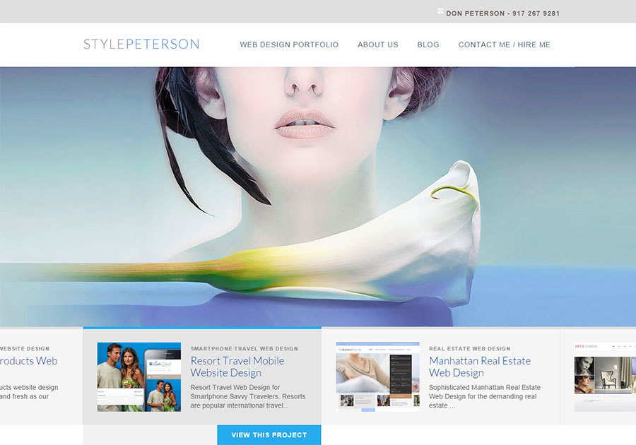 A great web design by StylePeterson.com, New York, NY: