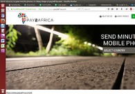 A great web design by Pay 2 Africa, Seattle, WA: