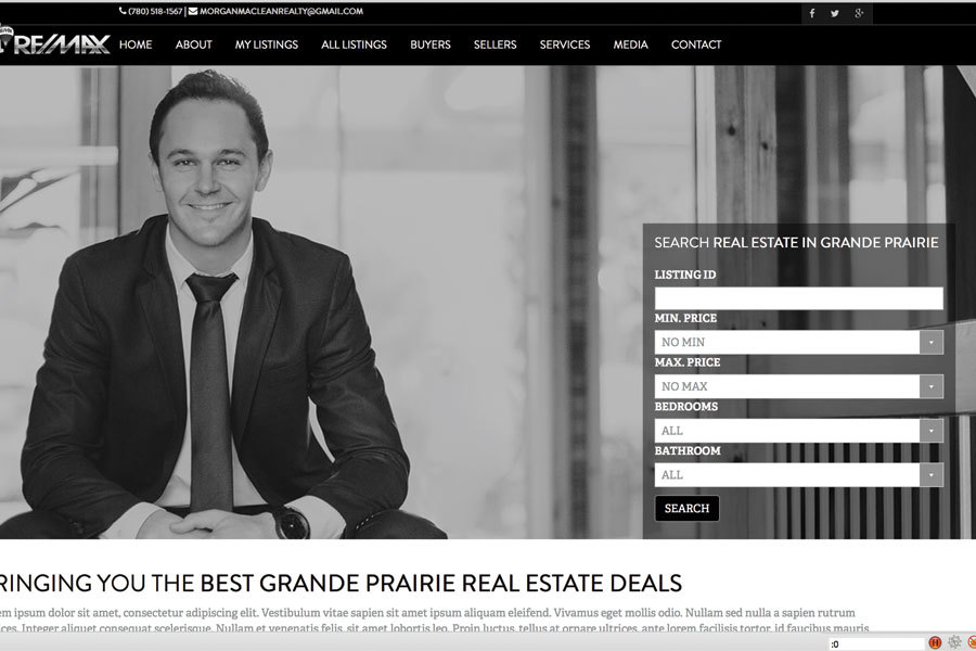 A great web design by Sixo Media, Grande Prairie, Canada: