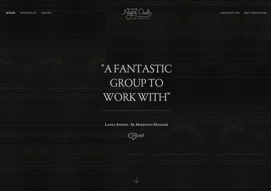 A great web design by Night Owls, New York, NY: