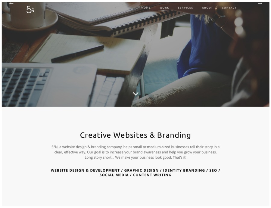 A great web design by 5ºN (yep, 5 Degrees North!), Atlanta, GA: