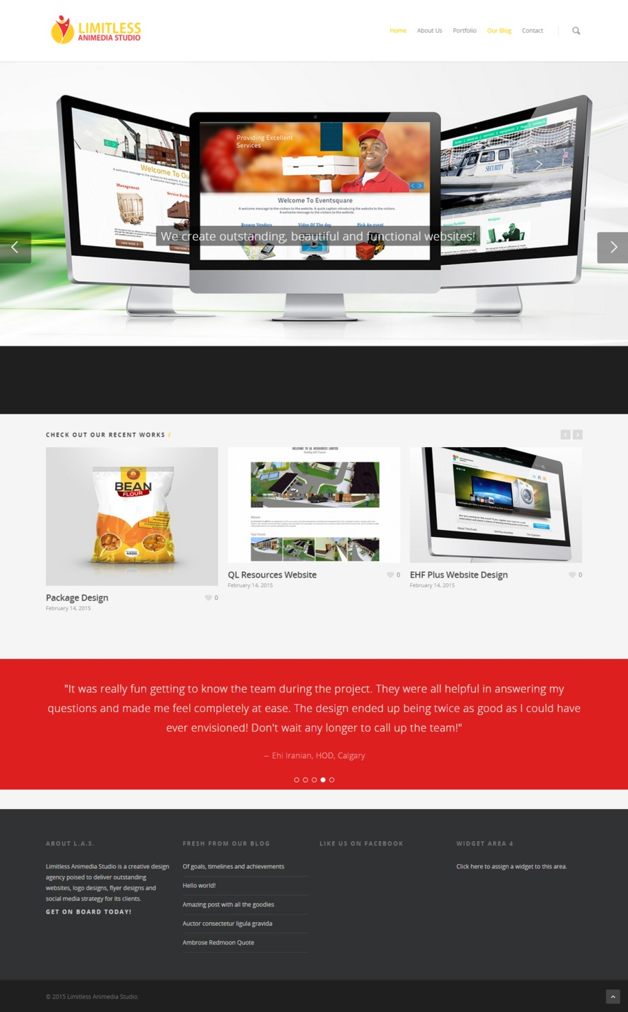 A great web design by Limitless Animedia Studio, Lagos, Nigeria: