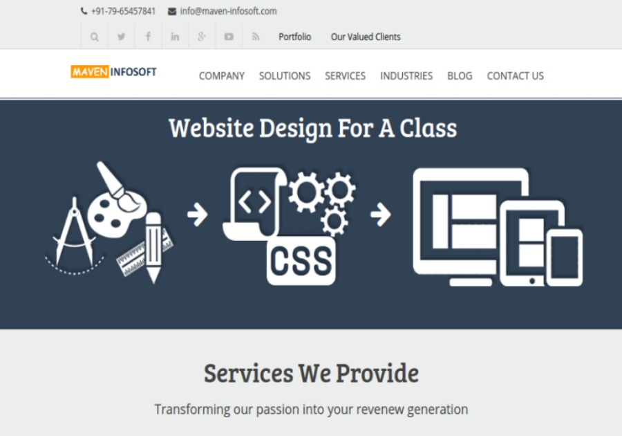 A great web design by maven infosoft pvt ltd, Delhi, India: